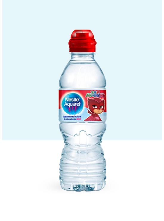 Botella de agua Kids con Tapón Sport y pack de 6 botellas de 33cl