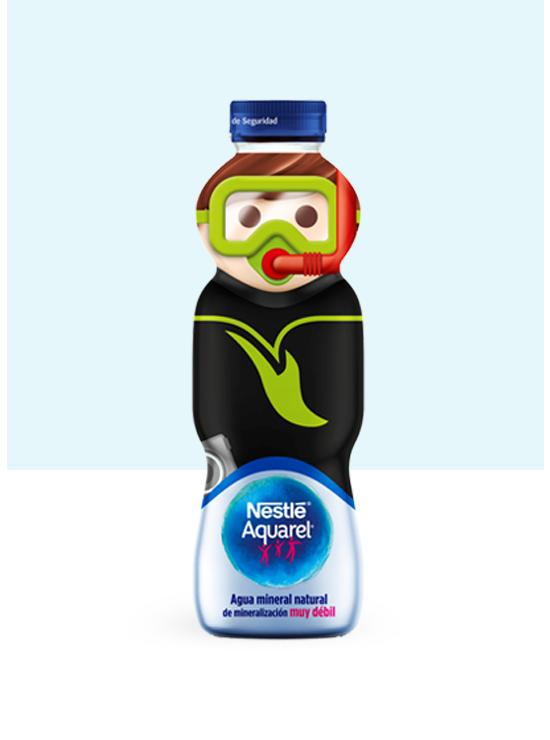 Botella de agua Personajes con Tapón Rosca de 33cl