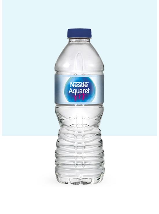 Botella de agua 50 cl y pack de 6 botellas PET de 50cl