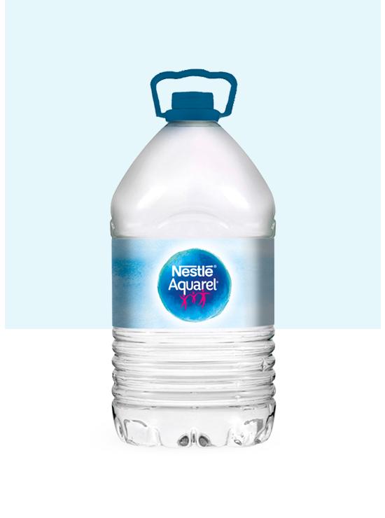 Garrafa de agua 5L y pack de 2 garrafas PET de 5L