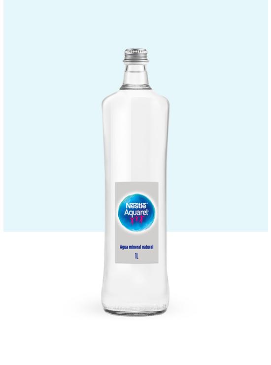 Botella de agua de Cristal 1L