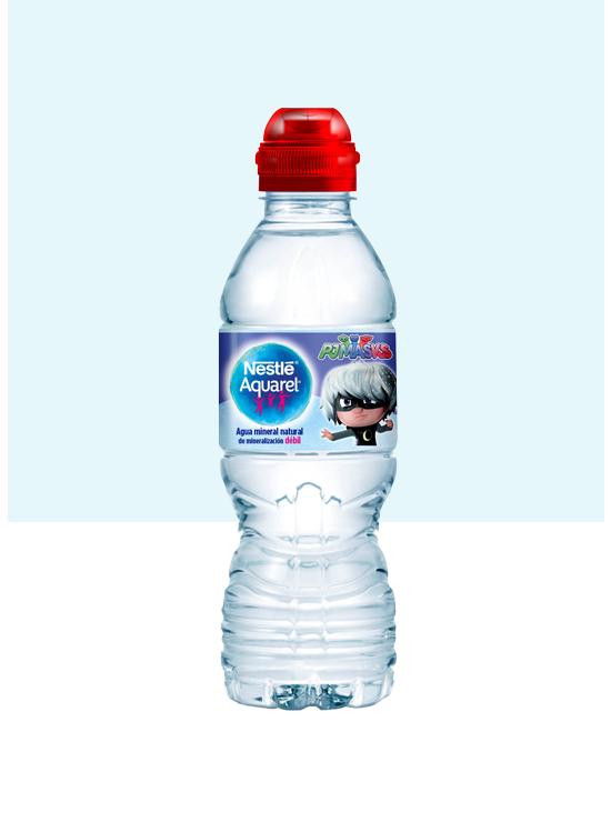 Botella de agua Kids con Tapón Sport y pack de 6 botellas de 33cl red