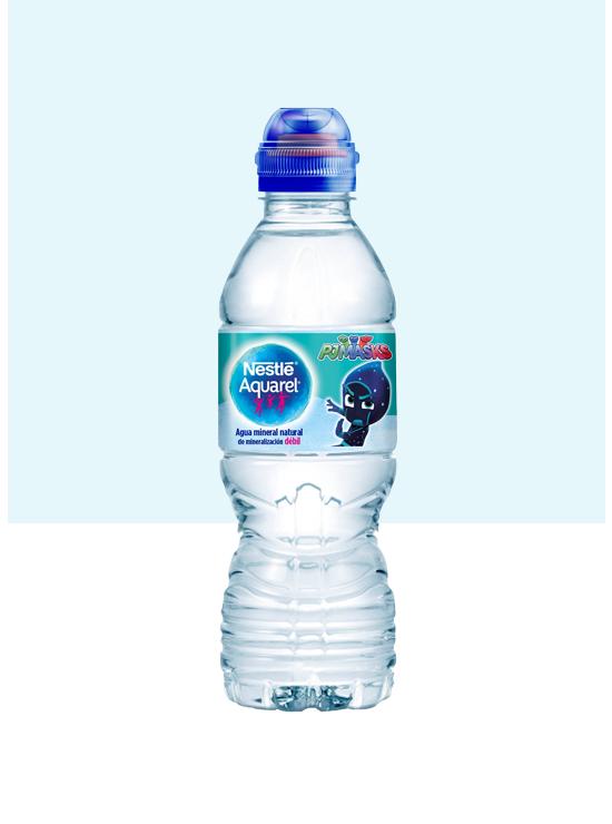 Botella de agua Kids con Tapón Sport y pack de 6 botellas de 33cl blue