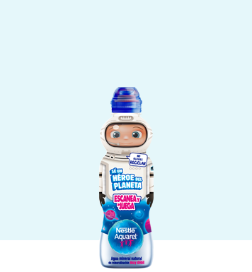 Botella de agua pequeña Nestlé Aquarel Personajes 33cl con tapón sport
